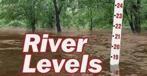 Be cautions of rising river levels