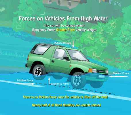 Vehicle in High Water